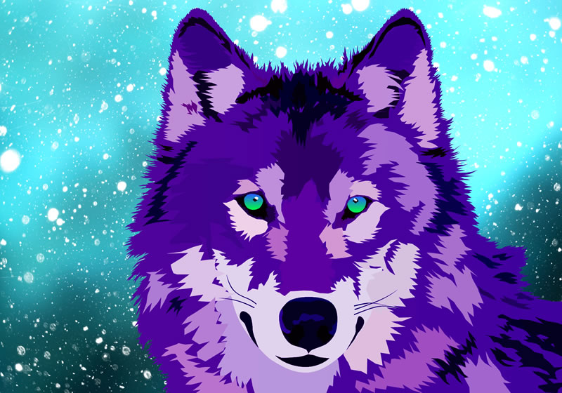 artwork thumbnail: Purple Wolf